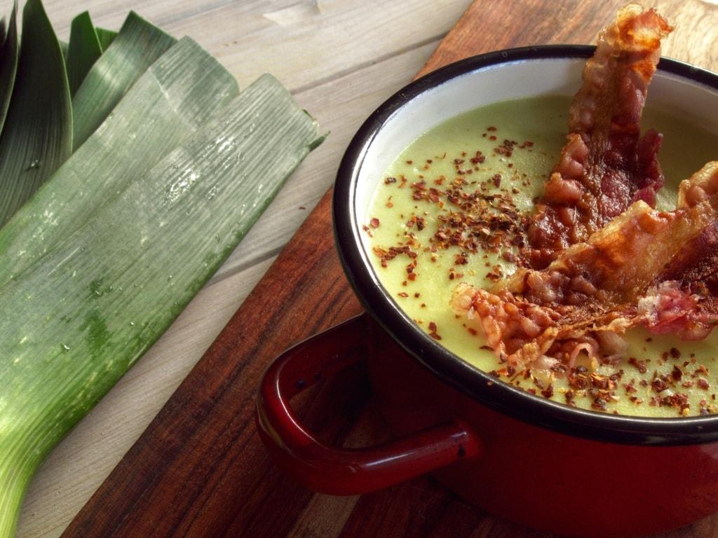 kremowa zupa z porów i ziemniaków 2