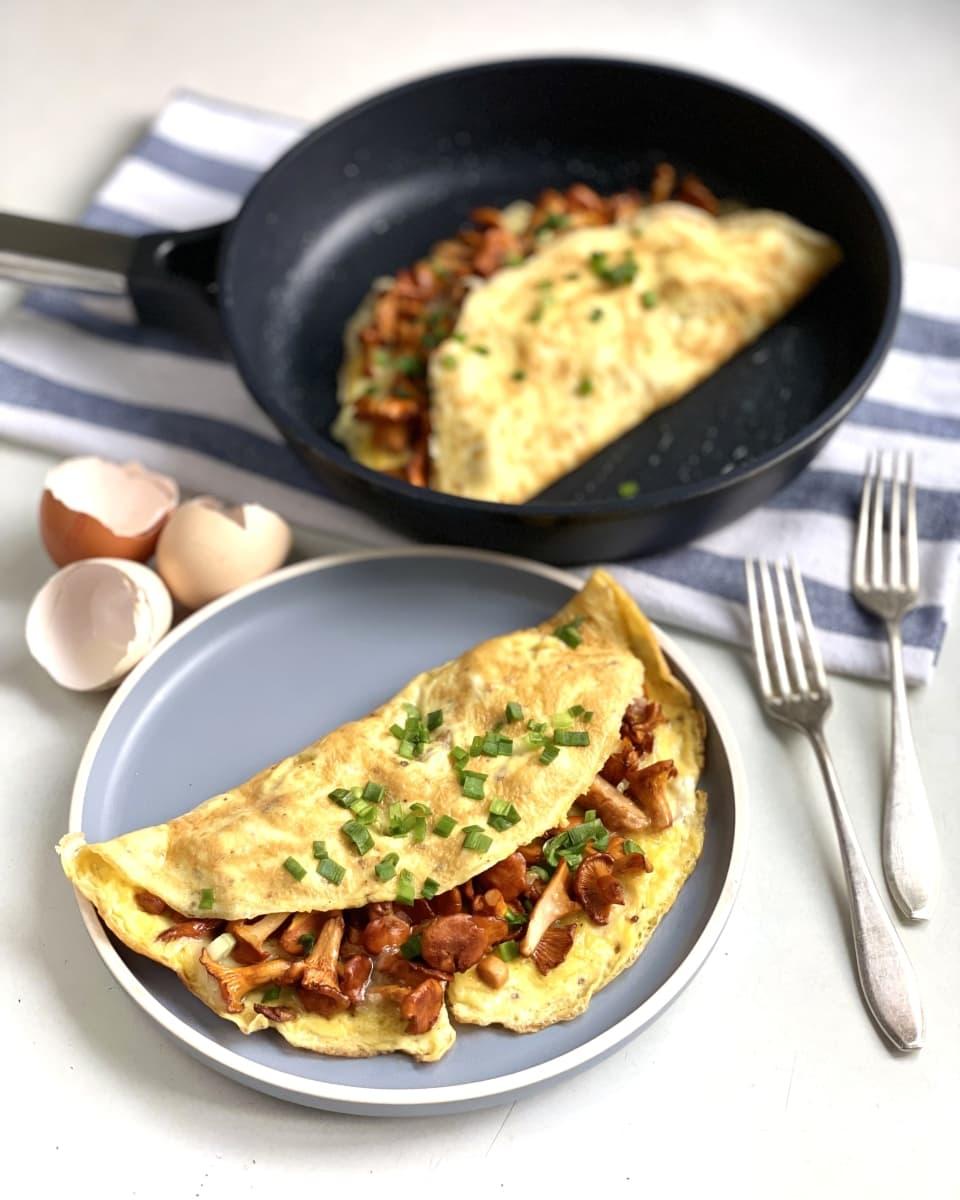 omlet z kurkami 2
