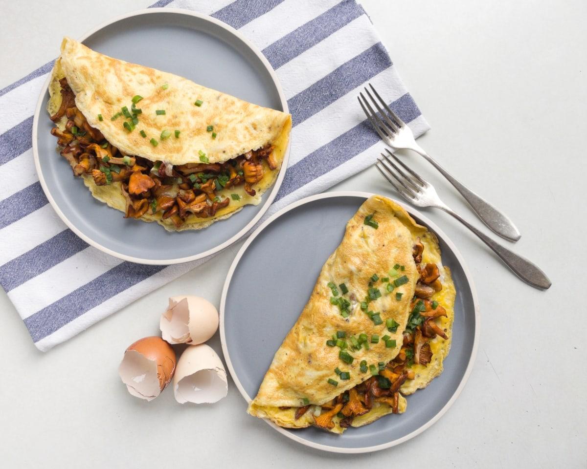 omlet z kurkami 3
