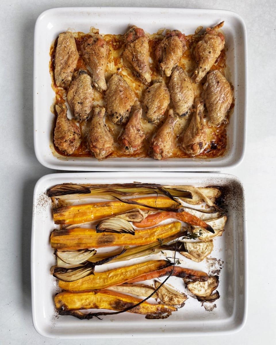 rosół z pieczonego kurczaka 4