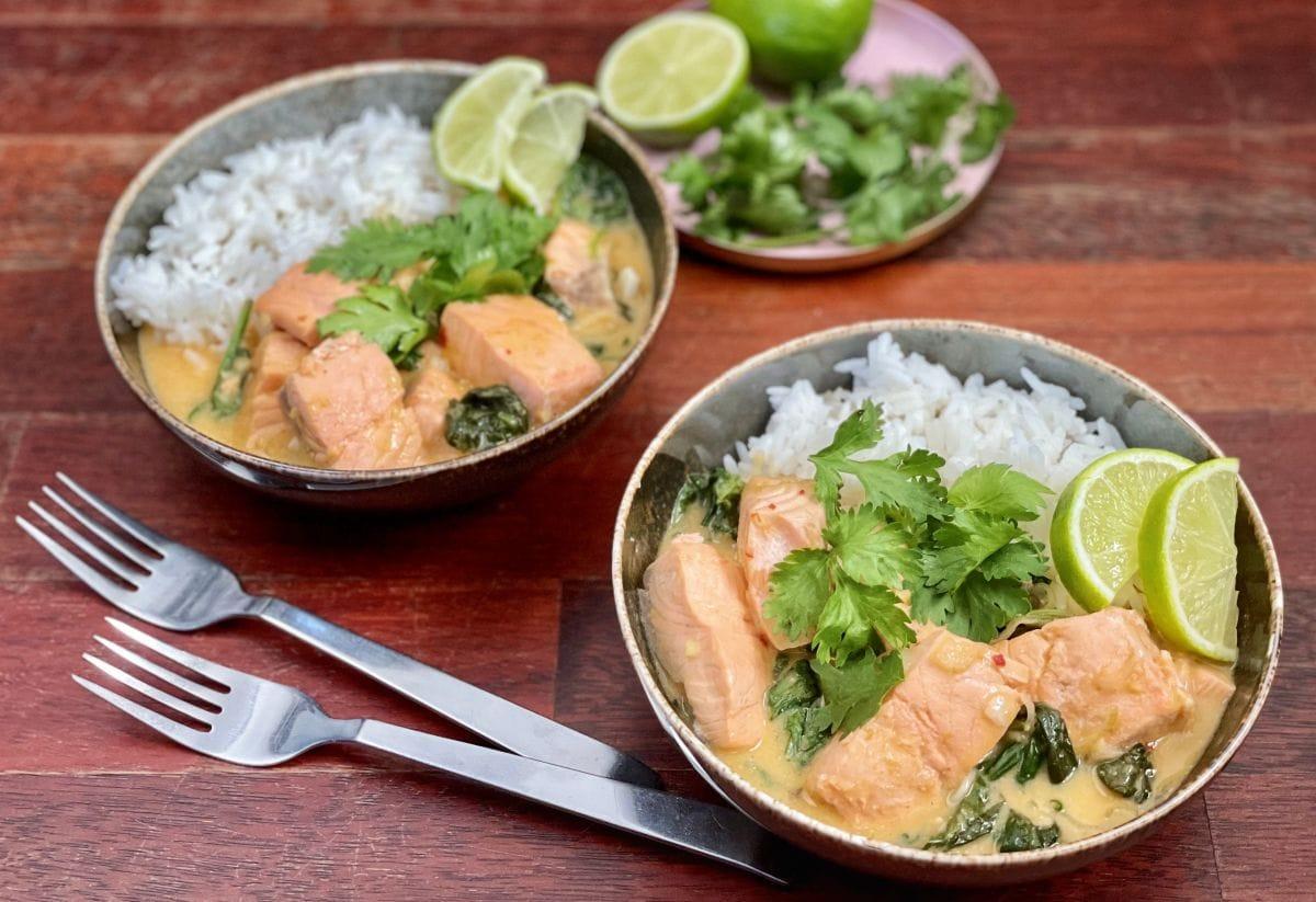 łosoś w sosie curry 2