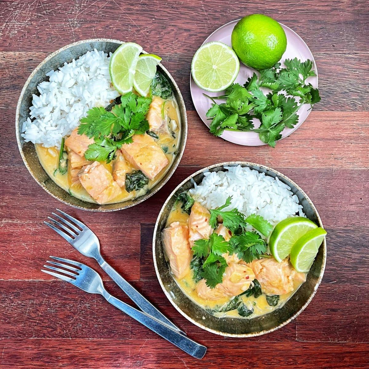 łosoś w sosie curry 3