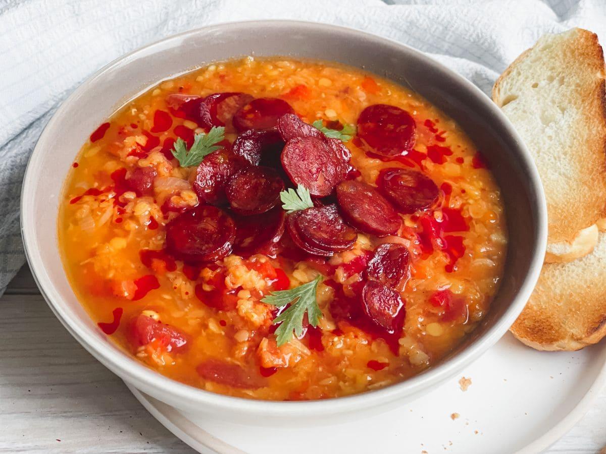 zupa z soczewicy i pieczonej papryki 2