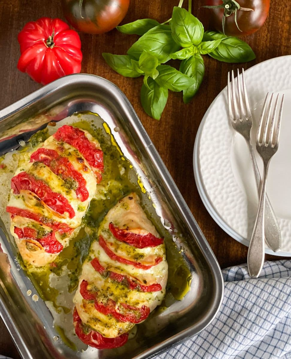 kurczak z mozarellą i pomidorami